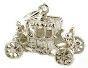 CLASSIC DESIGNS Sterling Silver 925 Moving Queen's Jubilee Coronation Coach Charm N153