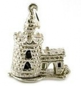 CLASSIC DESIGNS Sterling Silver 925 Opening Tower Of London Charm Reveals Man Being Beheaded N233