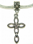 Make It With Beads Silver Cross Dangle Charm