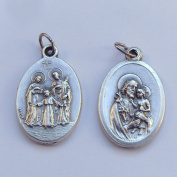 St. Joseph Holy Family Catholic medal pendant - silver colour metal 2cm