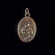 St. Anthony Catholic medal pendant - silver colour metal 2cm