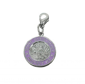 Charm St Christopher in steel by Charming Charms. up to 30