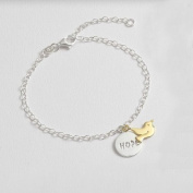 00337. Silver Hope & Gold Plated Dove Bracelet - Baptism Jewellery - Confirmation Gifts