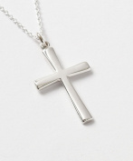 005. Sterling Silver Contemporary Cross Pendant - Confirmation Gifts - Cross Necklace - Christian Presents