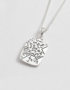 00326. Sterling Silver Cross & Faith Pendant - Christian Gifts - Baptism Present - Communion Gifts - in a Jewellery Presentation Box