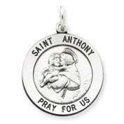 Sterling Silver St. Anthony Medal Charm - JewelryWeb