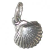 Seashell Sea shell Tiny sterling silver charm .925 x 1 Sea Shell Shells SSELP612