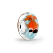 Bling Jewellery Sterling Silver Nautical Fish Murano Glass Bead.