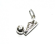 Markylis - Genuine Sterling Silver Football Charm / Pendant