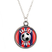 Eagles 1905 Design Pendant & Silver Plated Necklace