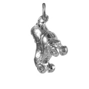 TheCharmWorks Sterling Silver Small Roller Skate Charm
