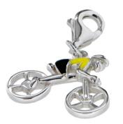 Silver Enamel Bicycle Charm