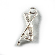 3D 925 Sterling Silver Charm - Riding Boot & Crop - FREE UK POSTAGE