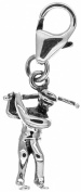 1.2g Solid .925 Sterling Silver 3D Oxidised Golfer Charm/Pendant with Anti-Tarnish Protection - FREE GIFT BOX