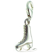 Welded Bliss Sterling 925 Silver Ice Skate Lobster Clip On Charm WBC1290