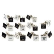 Black Square 'Usher' Wedding Cufflinks