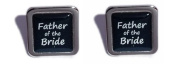 Father of the Bride Black Square Wedding Cufflinks.