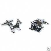 Dog and Doghouse Cufflinks