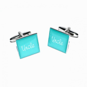 Uncle Teal Square Wedding Cufflinks