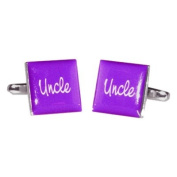 Uncle Purple Square Wedding Cufflinks