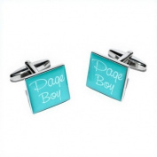 Page Boy Teal Square Wedding Cufflinks