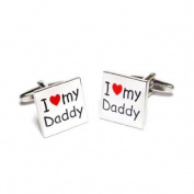 I Love my Daddy Square Cufflinks
