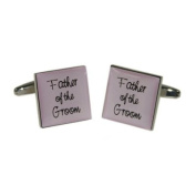 Father of Groom Pale Pink Square Wedding Cufflinks