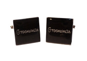 Groomsman Black Square Wedding Cufflinks