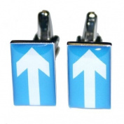 High Quality Rectangular One Way Sign Cufflinks