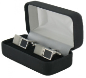 Black and Silver Reversible Cufflinks - Reversible Cufflinks in Presentation Box - includes gift tag