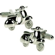Silver Colour Mod Scooter Cufflinks