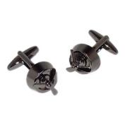 Gunmetal Finish Fixed Propellor Cufflinks