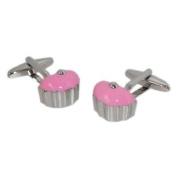 Cool Pink Cup Cake Cufflinks