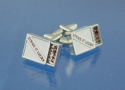 Deluxe Cufflinks & Gift Pouch - Box Of Matches