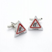 Mens Novelty Designer Cufflinks 6 Points - For the man who likes to drive