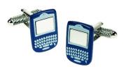 BLUE BLACKBERRY PHONE GADGET CUFFLINKS IN GIFT BOX