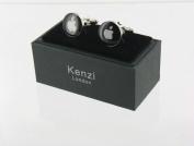 Men's Designer Stainless Steel Novelty Cufflinks -White Apple - For the Apple Lover