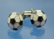 Black and White Football Cufflinks PSN95