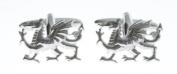 Harvey Makin Rhodium Welsh Dragon Cufflinks