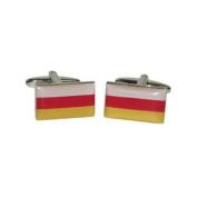 X2BOCF104 - Ossetia Flag Cufflinks