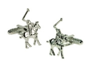 Mens novelty cufflinks - Polo players design