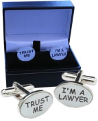 Law Cufflinks for Lawyers presented in a quality cufflink gift box.