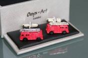 Novelty Mens cufflinks - Fire Engine Fireman Gift