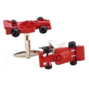 Red Racing Car Cufflinks in Gift Box