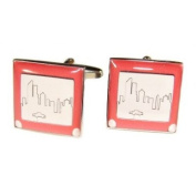 Novelty Retro Drawing Toy Cufflinks