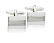 Silver Effect Fashion Cufflinks, Model 9375