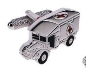 Silver Ambulance with Red Cross Detail Cufflinks & Gift Box