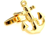MFYS Cuff Links For Man Anchor Design Novelty Cufflinks With Box