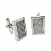 Stainless steel Cufflinks Carbon look by Blacklist