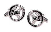 Novelty Mens Cufflinks - Car Steering Wheel Design